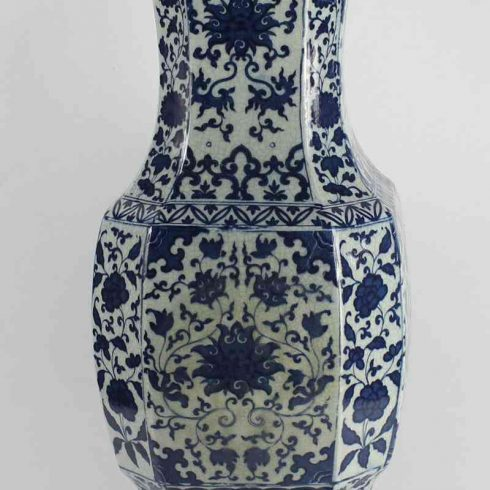 RYJF15_h21″ Chinese Crackle Blue & White Vases
