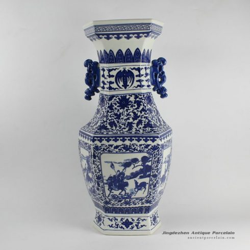 RYJF21_blue and white ceramic home furnishing decorative ornaments
