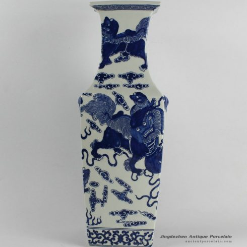 RYJF29_Chinese Blue White Vases