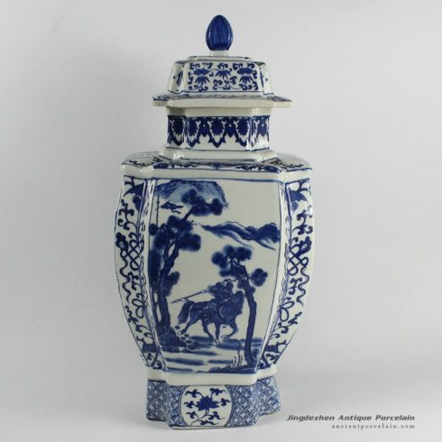 RYJF31_Chinese Blue White Asian Vases