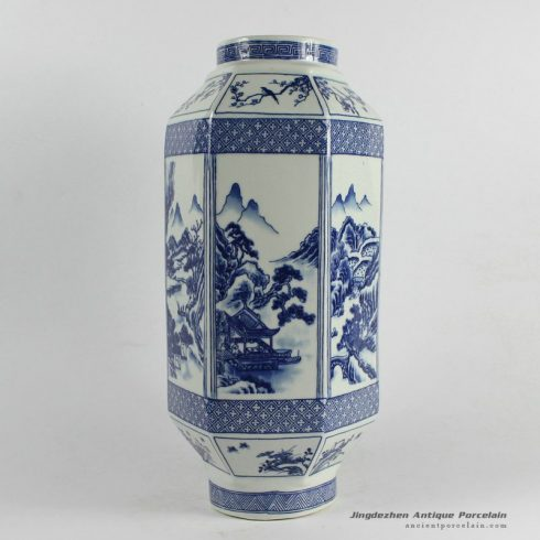 RYJF32_Chinese Blue White Asian Vases