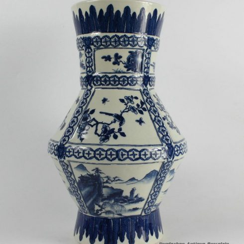 RYJF33_ Chinese Blue White Asian Vases