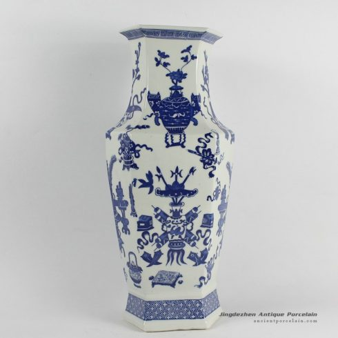 RYJF35_ Chinese Blue White Asian Vases