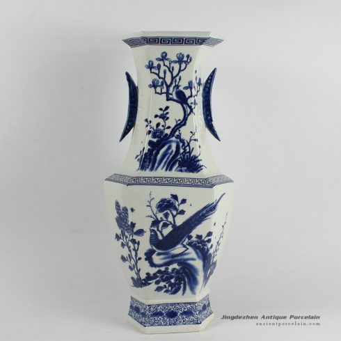 RYJF36_Chinese Blue White Asian Vases