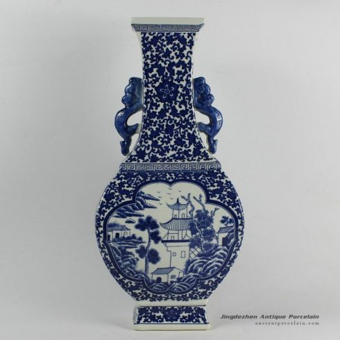 RYJF39_Blue White chinese export porcelain Vase