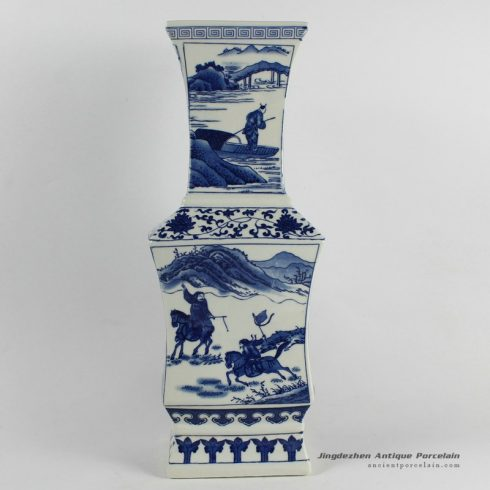RYJF40_Blue White chinese export porcelain Vase