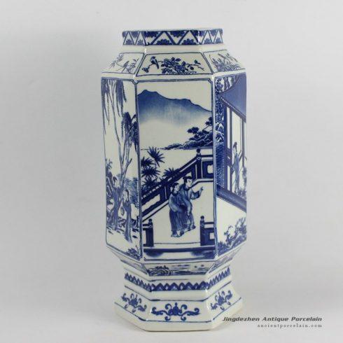 RYJF43_Blue White chinese export porcelain Vase