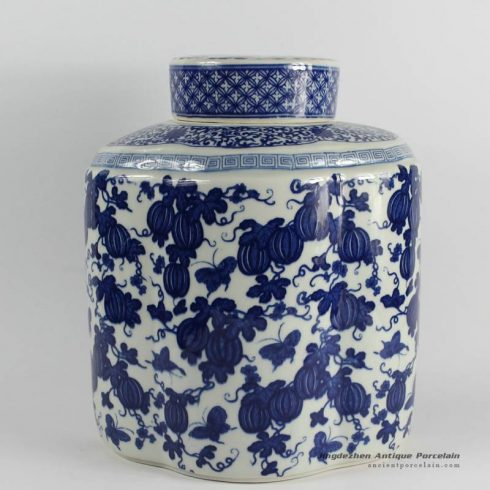 RYJF52_Blue White chinese porcelain vase