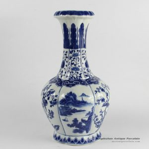 RYJF54_Blue White chinese porcelain vase