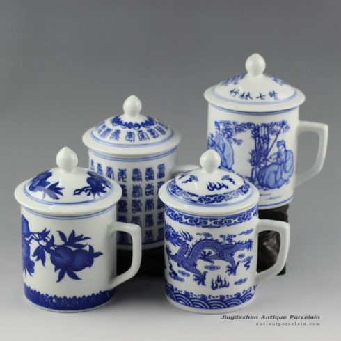 RYJZ09_Ceramic blue and white mugs