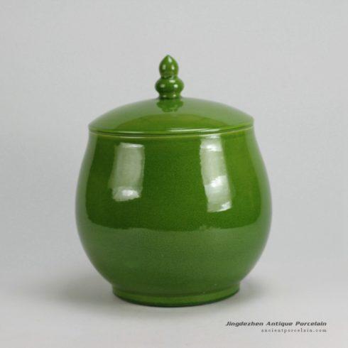 RYKB125/B_H11.5″ Plain glazed Ceramic Jars