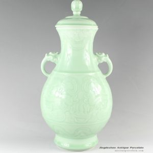 RYKX19_H15″ home decor Celadon Porcelain decorative jars