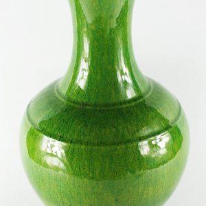 RYMJ26_14″ Green crackle ceramic porcelain flower vase