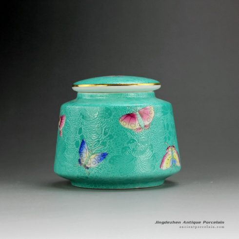 RYMY19_Hand Painted Butterfly Tea Jars