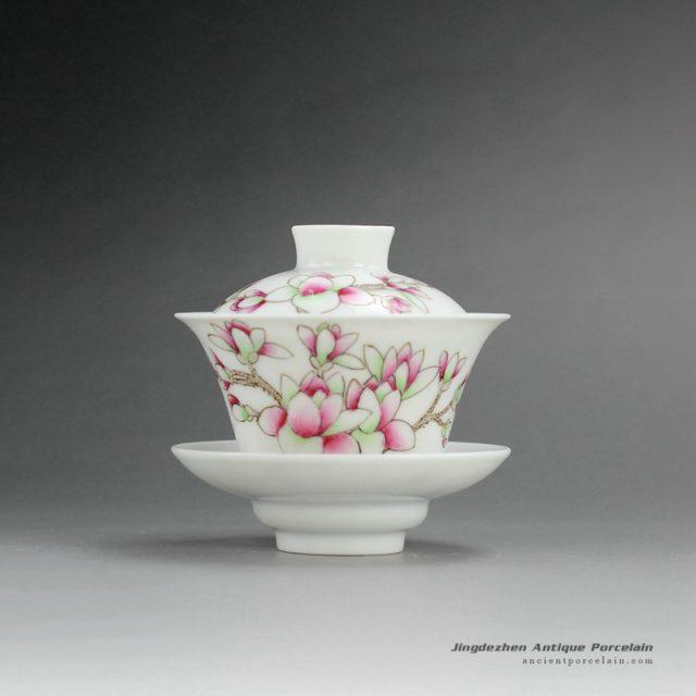 RYNY23-B_Hand Painted Famille rose Tea Gaiwan