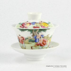 RYNY23-D_Hand Painted Famille rose Tea Gaiwan