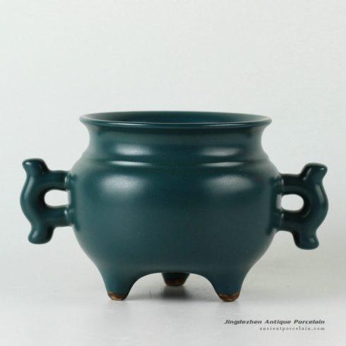 RYPM27_solid color ceramic incense burner