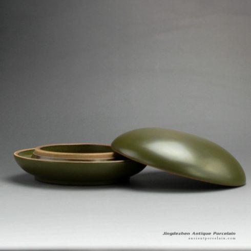 RYPM29-B_dark green glaze ceramic inkpad