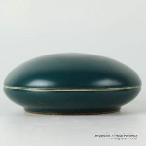 RYPM29_dark green glaze ceramic inkpad