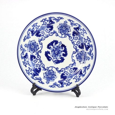 RYPU33-A_Hot sale Jingdezhen Blue and white ceramic plate