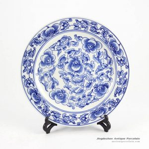 RYPU33-B_Wholesale price blue and white display tray
