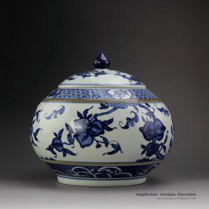 RYSN16_Blue and White Peach Tea Jar