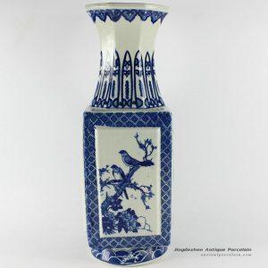 RYTM18_15″ Blue white antique home decoration porcelain vase