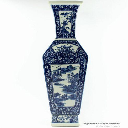 RYTM29_21″ wholesale blue and white flower vases