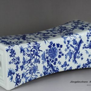 RYTM61-a_Ceramic floral pattern slim vase