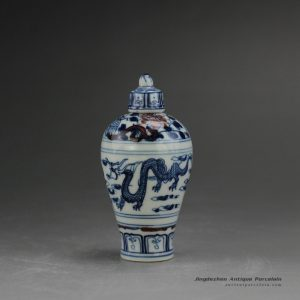 RYUD01-A_Porcelain Blue and White Snuff Bottle
