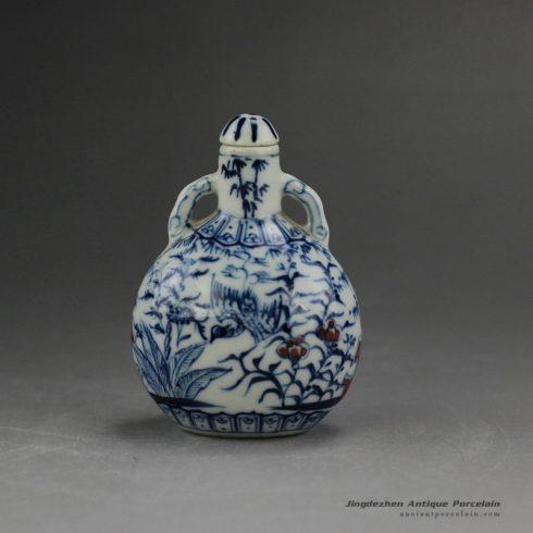 RYUD01-B_Porcelain Blue and White Snuff Bottle