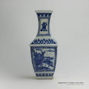 RYUK25_17.2″ Landscape design Blue White Vases