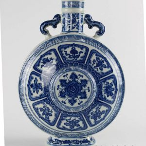 RYUU16_Special blue and white eight treasures pattern china ware moon flask