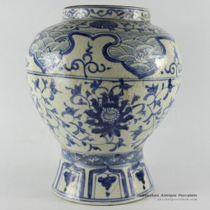 RYUV08_H26cm Chinese Blue and White Ceramic Vase