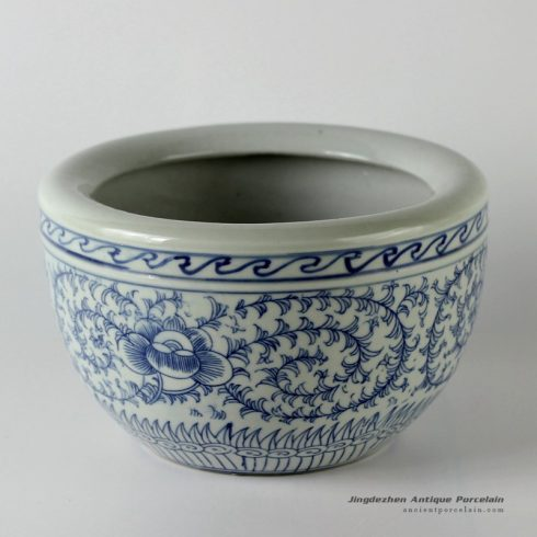 RYUV14_Blue white floral design ceramic bowls