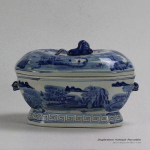 RYUV18_Landscape design Ceramic Blue White Pots