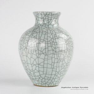 RYXC34_Factory direct outlet crackle glaze indoor porcelain flower vase