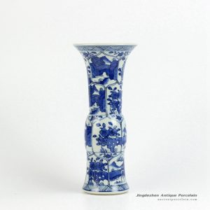 RYXN18_Graceful China supplier hand paint floral pattern trumpet vase
