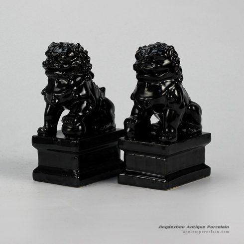 RYXP21-H_Plain color porcelain lion figurine