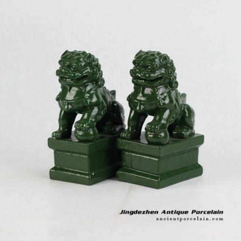 RYXP21-P_Plain color Chinese style ceramic lion statue