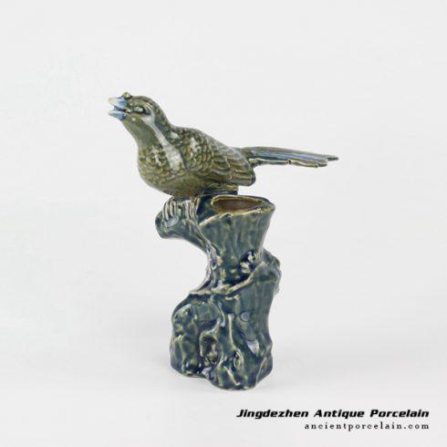 RYXP35_Jingdezhen China art design home decor crockery twittering bird sculpture