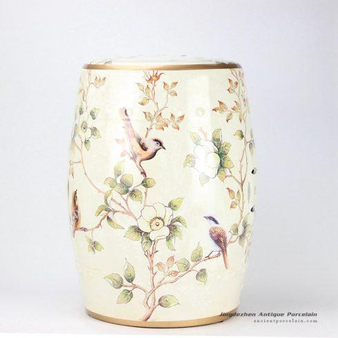 RYYL03_18″ Benches garden floral bird Stool