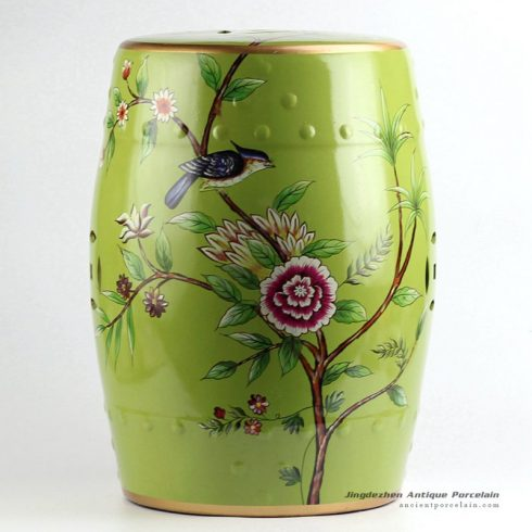 RYYL08_Bird floral pattern new arrival ceramic patio stool
