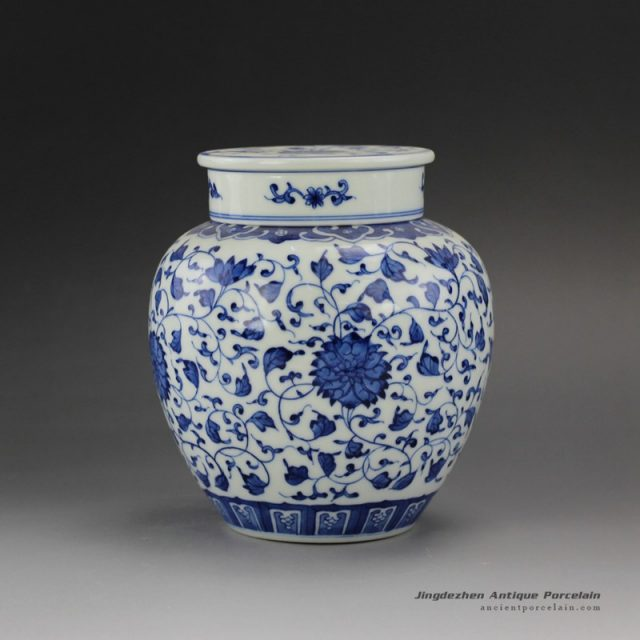 RYZ162-B_Jingdezhen Hand painted Blue and White Tea ware