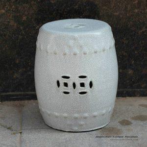 RYZR04_15.7″ Chinese Crackle glazed Asian stools