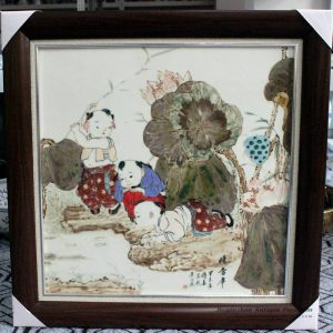 RZBI09_Jindezhen Porcelain Wall Decor., Hand painted children design