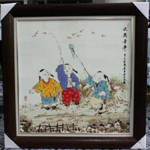 RZBI11_Jindezhen Porcelain Wall Decor., Hand painted children design