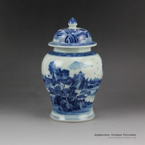 RZCC02_Antique hand paint landscape pattern chinese porcelain tea container