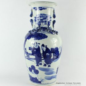 RZCM02_16.5 inch Chinese Blue and White Vase