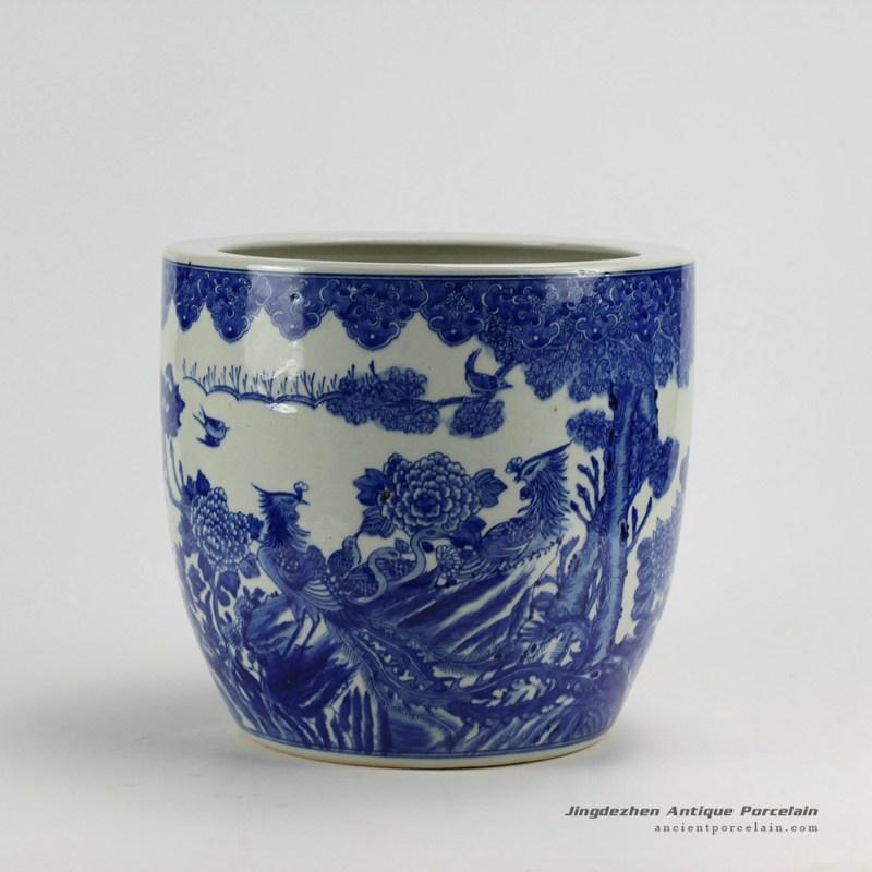 Rzda04hand painted blue white phoenix flower pot chinese antique rzda04hand painted blue white phoenix flower pot mightylinksfo